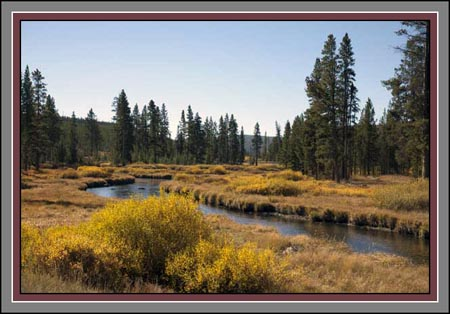 Fall Colors at Indian Creek by John William Uhler Copyright © All Rights Reserved