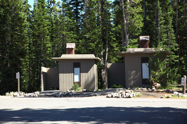 Lewis Lake Campground Restrooms by John William Uhler © Copyright