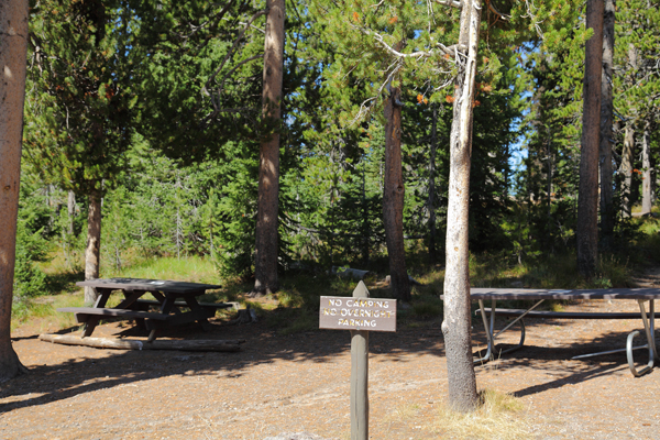 Lewis Lake Picnic Area by John William Uhler © Copyright