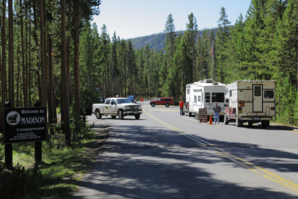 Madison Campground Map Pictures And Video Yellowstone