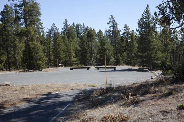 Norris Campground Parking Area by John William Uhler © Copyright