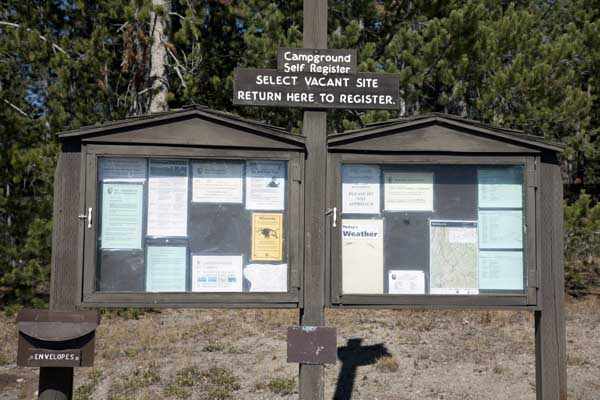Norris Campground Registration Point and Information Boards by John William Uhler © Copyright