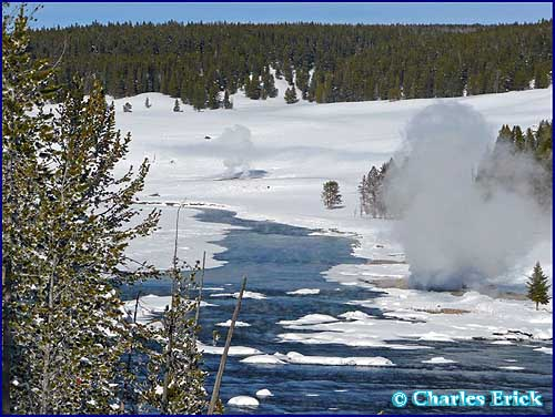 Thermals near Mud Volcano Area ~ © Copyright All Rights Reserved Charles Erick