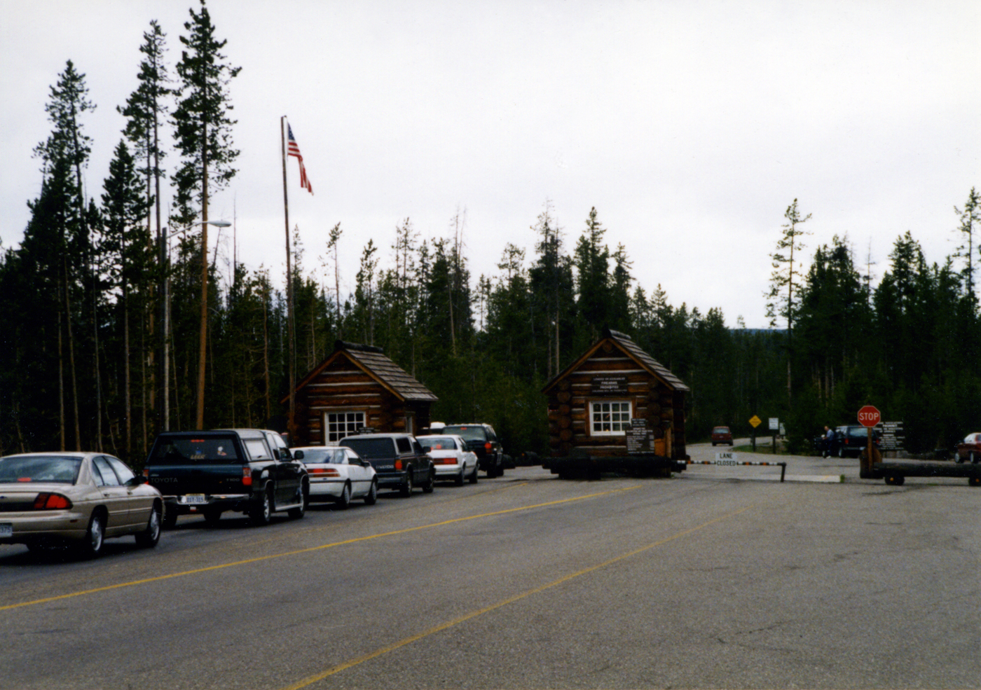 South Entrance to Yellowstone National Park by John William Uhler © Copyright All Rights Reserved