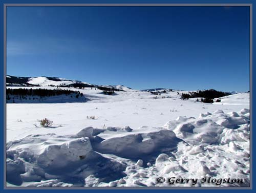 Jasper Bench in Lamar Valley ~ © Copyright All Rights Reserved Gerry Hogston