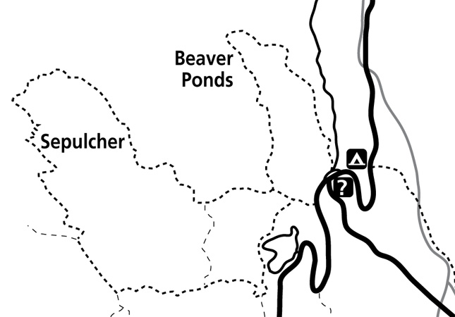 Beaver Ponds Trail Map - NPS Image