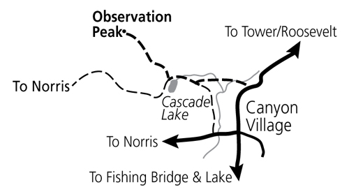 Observation Peak Trail Map - NPS Image