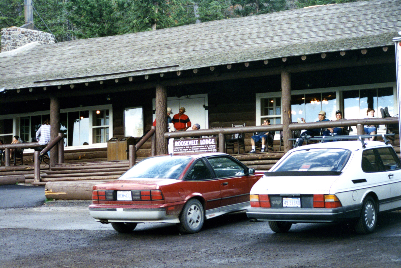 Roosevelt Lodge in Yellowstone National Park by John William Uhler © Copyright All Rights Reserved