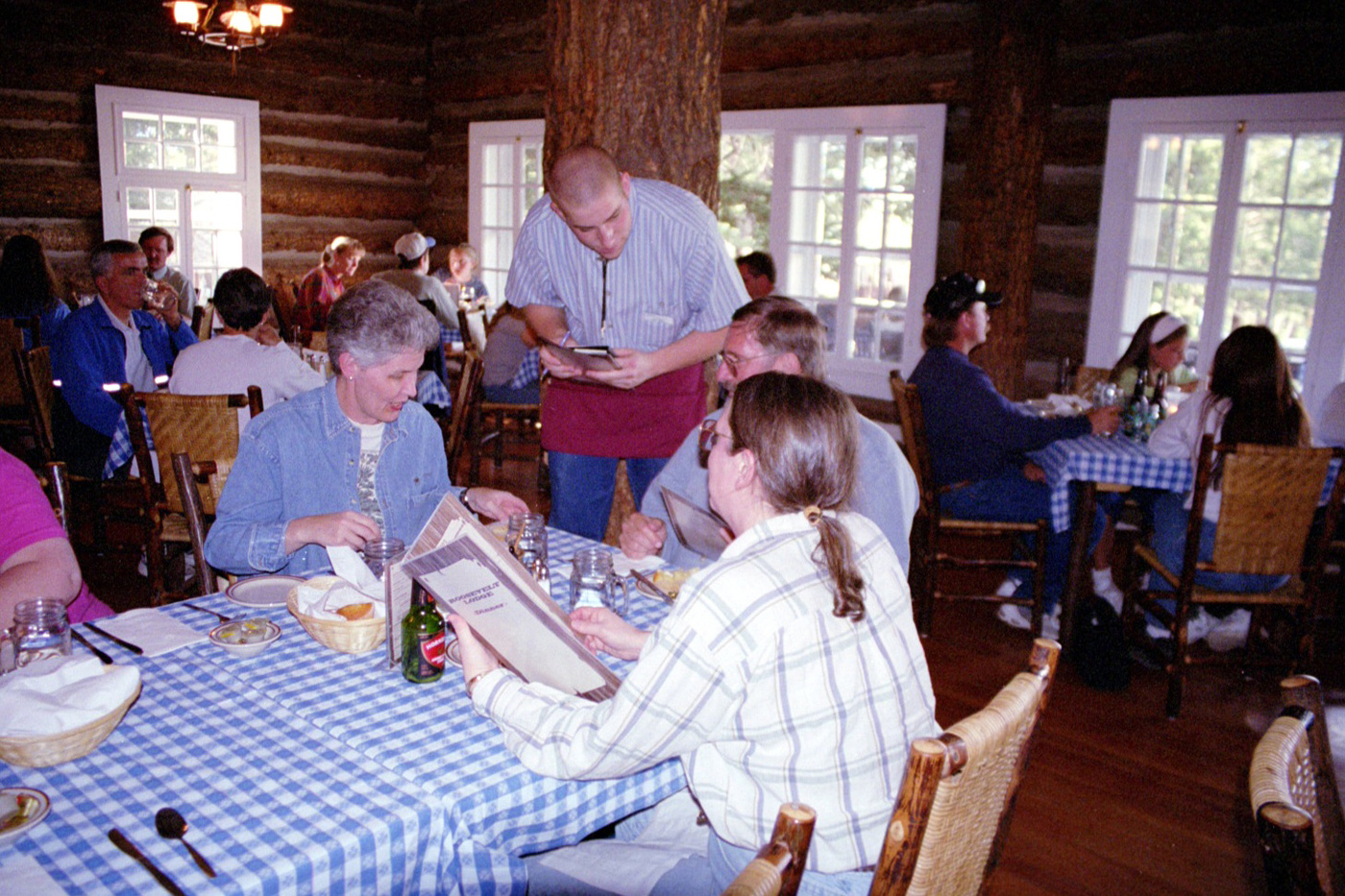 Roosevelt Lodge Dining Room in Yellowstone National Park by John William Uhler © Copyright All Rights Reserved