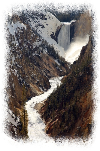 Lower Falls of the Grand Canyon of the Yellowstone by John William Uhler Copyright © All Rights Reserved