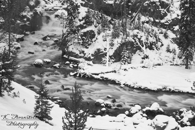 Firehole River in Winter - Yellowstone National Park ~ Photo by Kristine Branstetter © Copyright All Rights Reserved