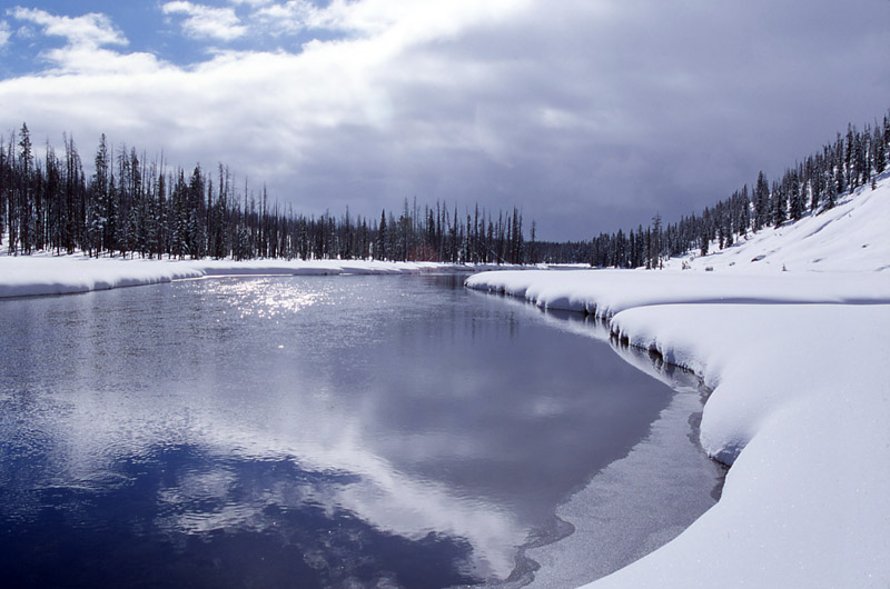 Lewis River - Yellowstone National Park ~ by Jim Peaco NPS Photo