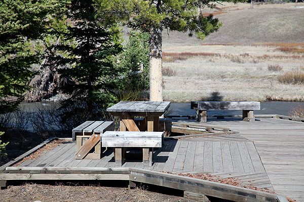Soda Butte Creek Picnic Area by John William Uhler © Copyright