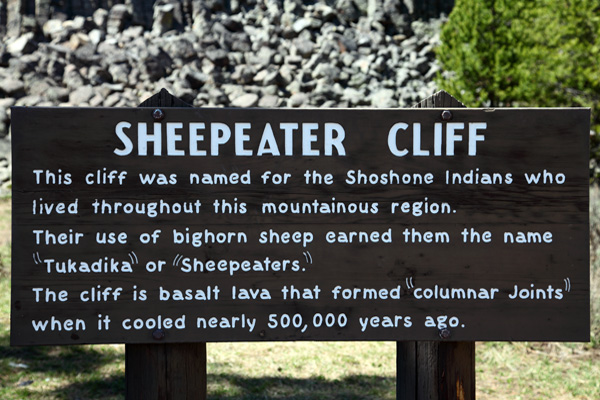 Sheepeater Cliff Picnic Area by John William Uhler © Copyright