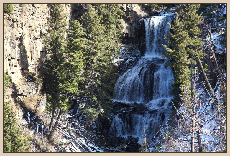 Undine Falls Yellowstone National Park by John William Uhler © Copyright Page Makers, LLC