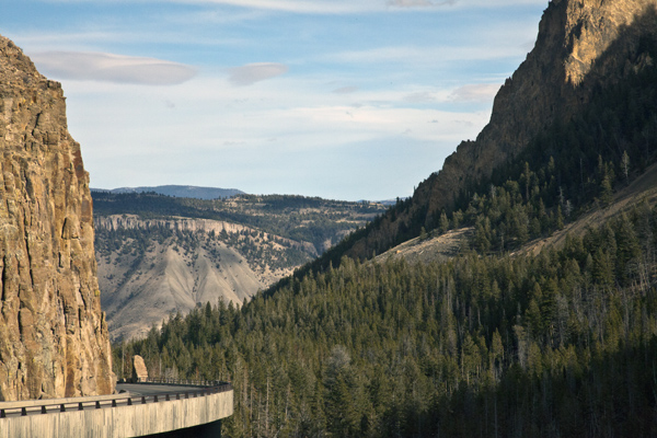 Golden Gate Canyon and Golden Gate Bridge - Yellowstone National Park - by John William Uhler © Page Makers, LLC