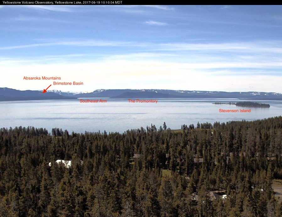 Yellowstone Volcano Observatory Mobile WebCam overlooking Yellowstone Lake