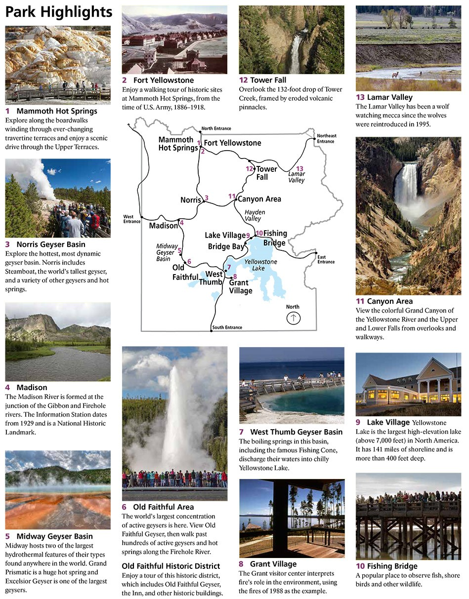 Highlights of Yellowstone National Park